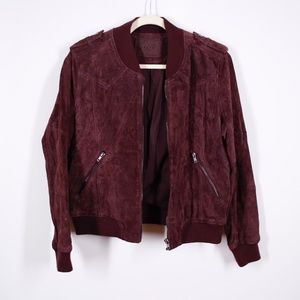 BlankNYC Leather Suede Moto Jacket Size Small